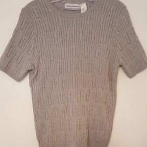 Alfred Dunner Petite Grey Pullover Sweater